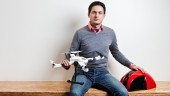 Klever Freire, CEO of Toronto-based DreamQii and creator of the PlexiDrone, a small UAV designed for film-makers and photographers. (© Michael Barker/Acme Art & Design)
