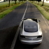 Tesla Model 3 driverless vehicle