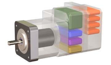 Stepper and servo motors can come with complete driver/controller/encoder systems integrated into the motor itself.