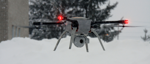 Built for hazardous conditions, Aeryon Labs' highly portable SkyRanger UAV can be deployed anywhere and perform in 90 kph winds.