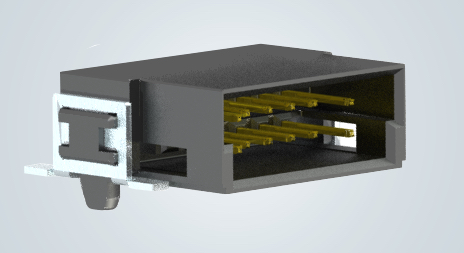 Harting's har-flex angled male connectors with pre-leading contacts can be configured with pin points of 6-100 for maximum in-box design flexibility.
