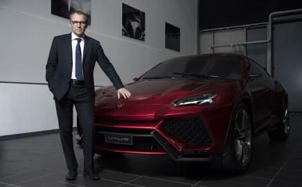 Lamborghini CEO Stefano Domenicali with the new Urus SUV